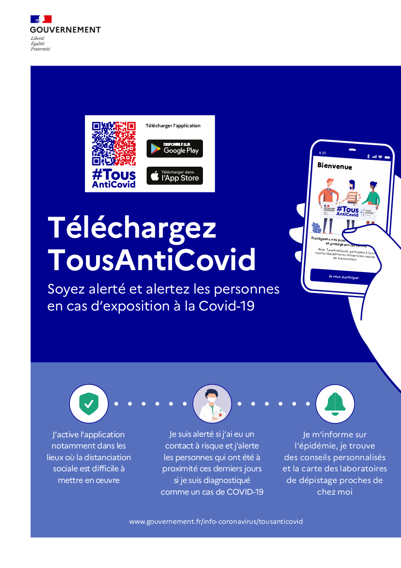 Téléchargeons l'application TousAntiCovid