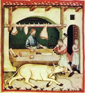 Le boucher au XVIème siècle