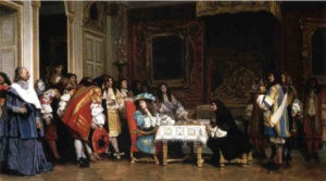 Repas à la cour de Louis XIV