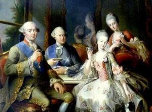 Anne d'Autriche buvant du chocolat à la Cour