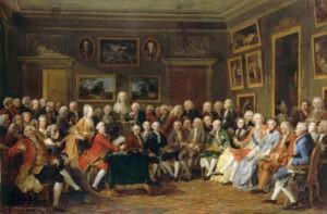 """Gabriel Lemmonnier, """"Dans le Salon de Madame Geoffrin en 1755"""""""