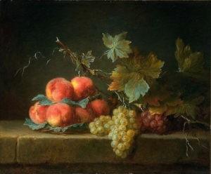 """""""Pêches et raisins"""" de Anne Vallayer-Coster"""