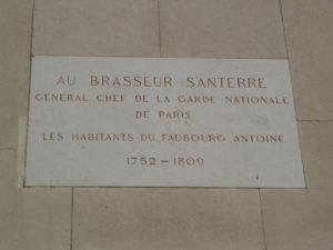 Plaque du brasseur Santerre