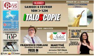 Programme italoscopie du 06/02/2021