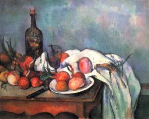 """""""Nature morte aux oignons"""" de Paul Cézanne"""