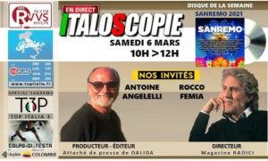 Le programme d'Italoscopie du 06/03/2021