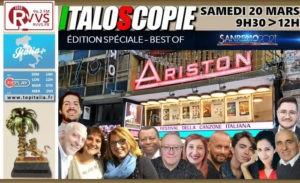 Programme d'Italoscopie du 20/03/2021