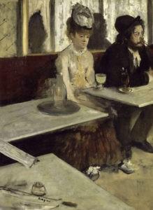 """""""Dans un café"""" d'Edgar Degas"""