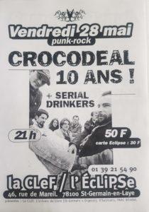 Affiche des 10 ans des Crocodeal en 1999