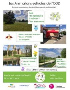Le programma estival 2021 de l'ODD