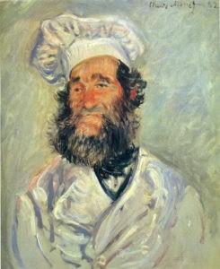 """""""Portrait du chef père Paul"""" de Claude monet"""
