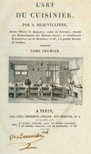 Antoine Beauvilliers, restaurateur